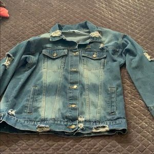 Say What Distressed style Jean jacket size medium